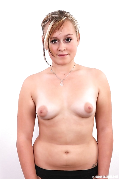 Chubby amateur female stands..