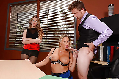 Office sluts Abbey Brooks..