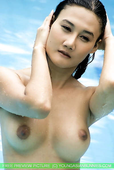 Young Asian girl with firm..