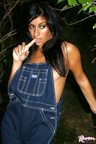 Showing off my new overalls..