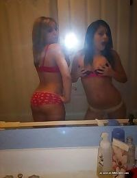 Sexy slutty blonde self-shooting and teasing with friends - part 5948