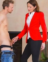 Naughty sweeties with hot fannies enjoy cfnm threesome with a hung lad - part 149