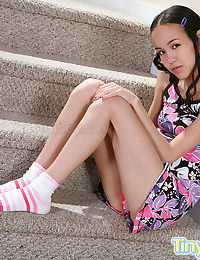 A hot teen nude on the stairs - part 115