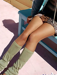 Stunning asian teen with sexy legs uncovering her tempting curves